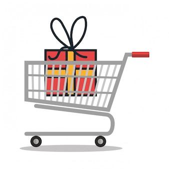 Online-shopping-e-commerce isoliert