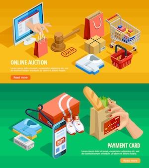 Online-shopping e-commerce-isometrische banner