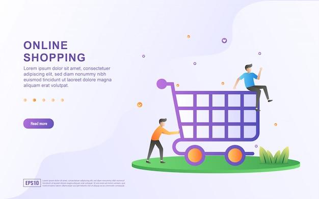 Online-shopping-flat-design-konzept.