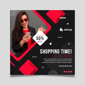 Online-shopping-flyer platz
