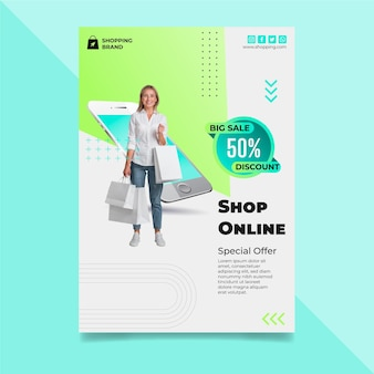 Online-shopping-flyer-vorlage