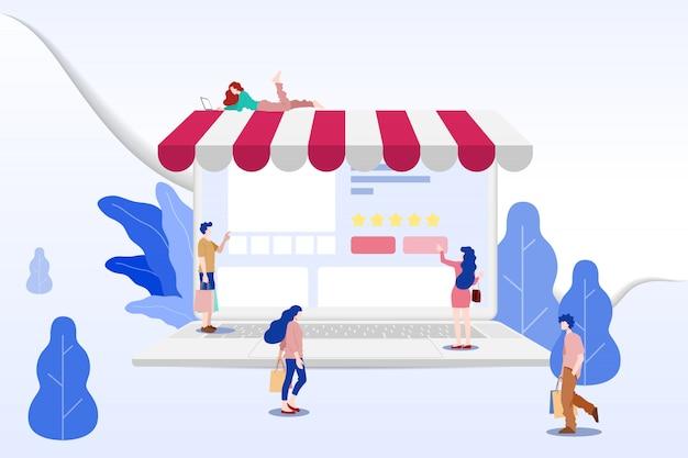 Online-shopping für m-commerce.