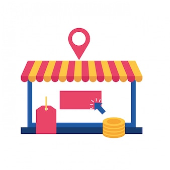 Online-shopping-geldsack