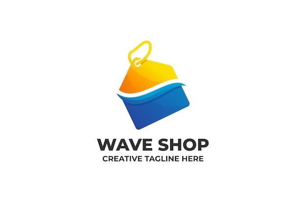 Online-shopping-geschäftslogo mit farbverlauf