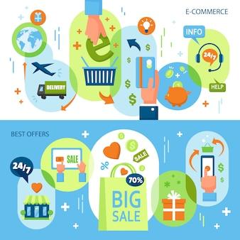 Online-shopping horizontale banner