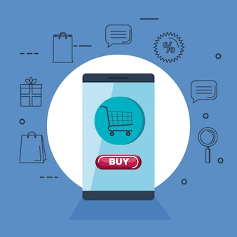 Online-shopping icons set