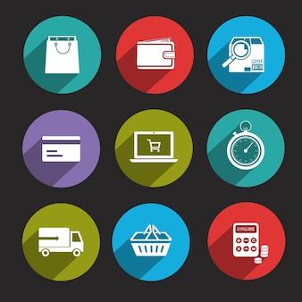 Online-shopping-ikonen-sammlung