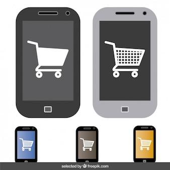 Online-shopping in der handy-