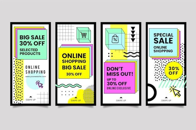 Online-shopping instagram geschichten sammlung