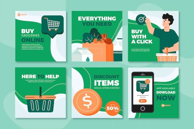 Online-shopping-instagram-post-sammlung