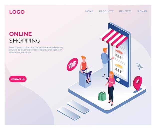 Online-shopping isometrisch