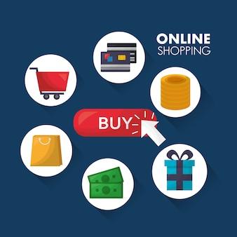 Online-shopping-karte