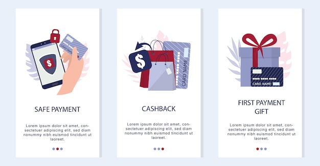 Online-shopping-konzept. banner für mobile e-commerce-anwendungen. mobile marketing app werbung und social media banner. illustration