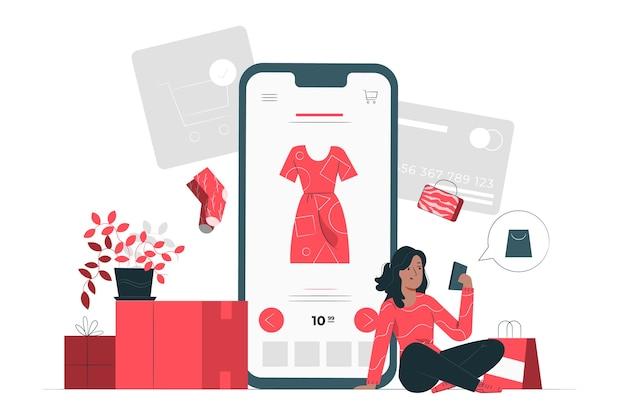 Online-shopping-konzept illustration