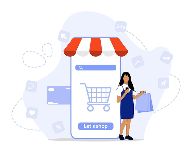 Online-shopping-konzept illustration