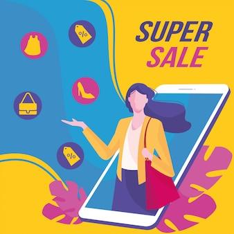 Online-shopping kreatives marketing social media