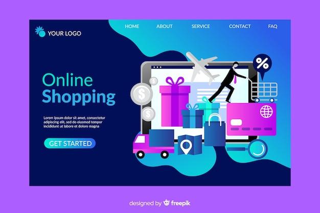 Online-shopping-landing-page-vorlage