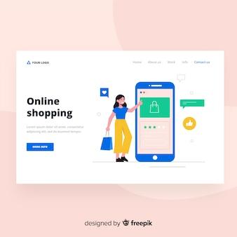Online-shopping-landing-page