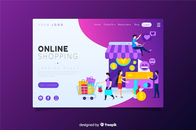 Online-shopping-landing-page