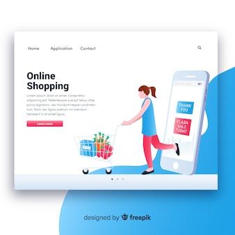 Online-shopping-landing-seitenvorlage