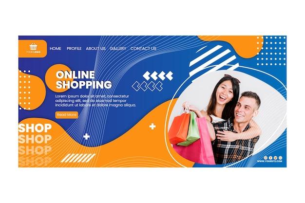 Online-shopping-landingpage-vorlage