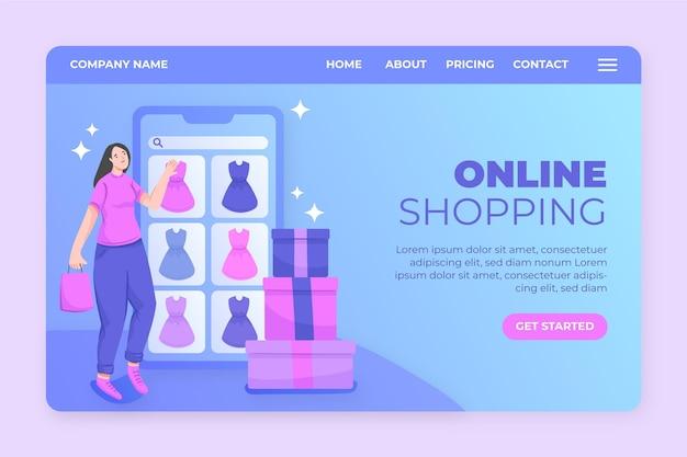 Online-shopping-landingpage