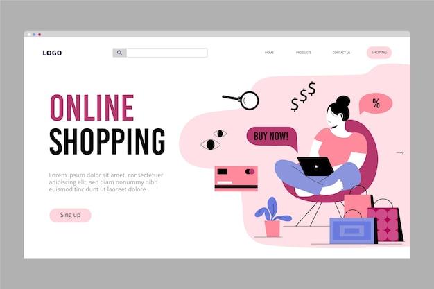 Online-shopping - landingpage