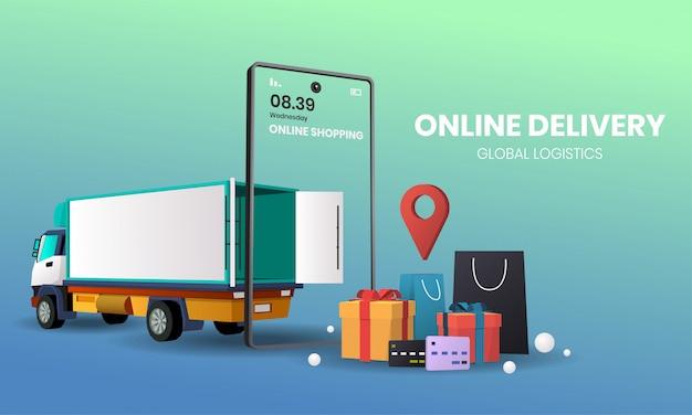 Online-shopping-lieferung