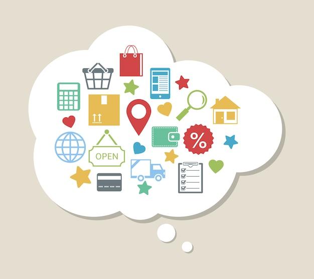 Online-shopping mit zufriedenen kunden