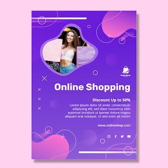 Online-shopping-poster-vorlage