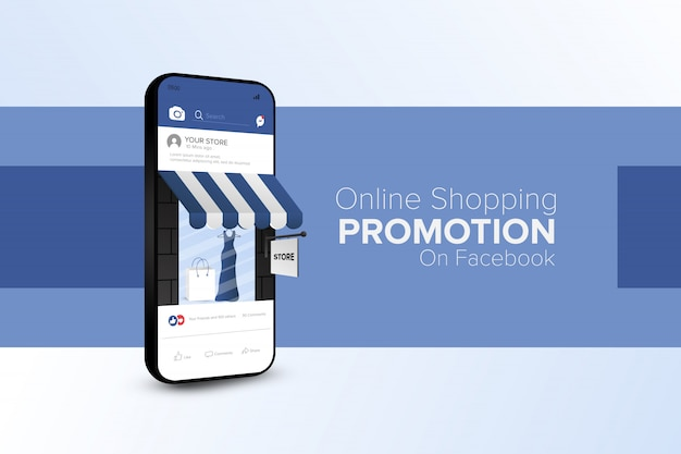 Online-shopping-promotion auf social media mobile app