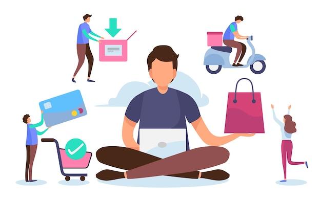 Online-shopping-prozess.