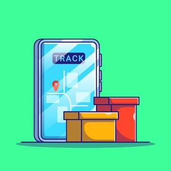 Online-shopping-sendungsverfolgung mit smartphone mobile app