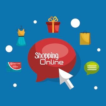 Online-shopping-set