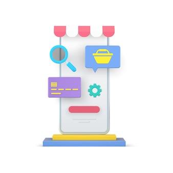 Online-shopping und digitales bezahlen