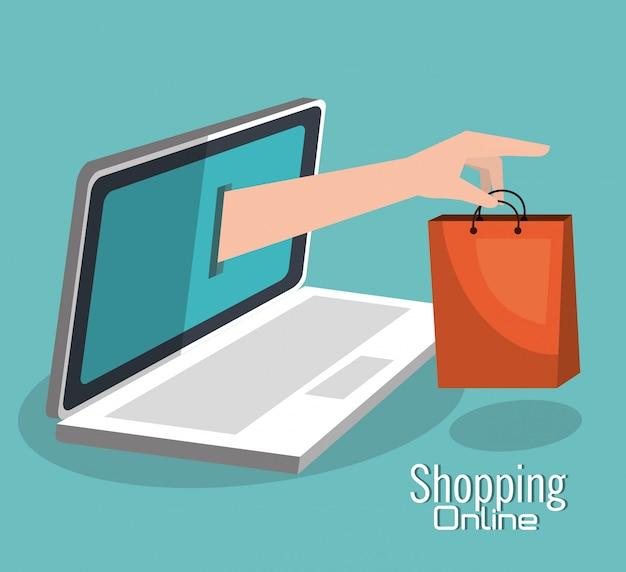 Online-shopping und digitales marketing