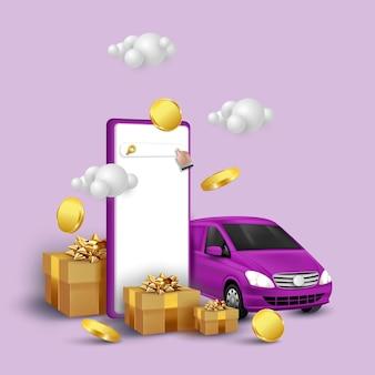 Online-shopping und lieferservice auf mobiler anwendung
