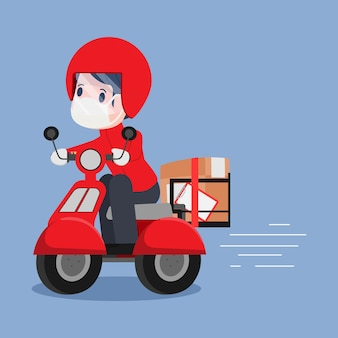 Online-shopping und lieferservice während covid-19.