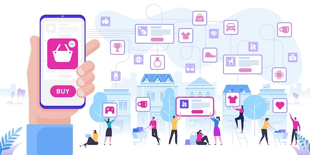 Online-shopping und lieferung von einkäufen