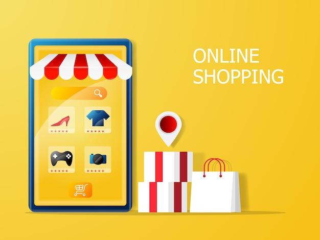 Online-shopping- und marketingkonzept