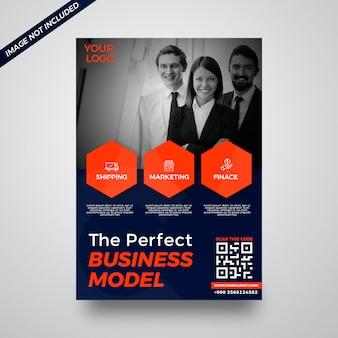 Online-shopping-unternehmen business flyer designvorlage