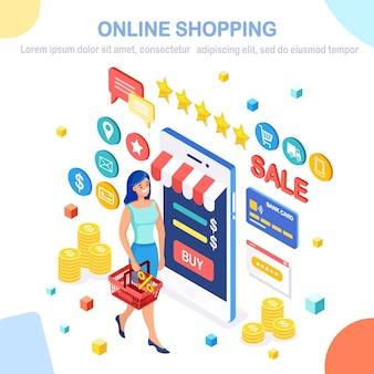 Online-shopping, verkaufskonzept.