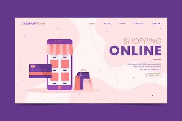 Online-shopping von der handy-landingpage