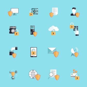 Online-sicherheits-icons
