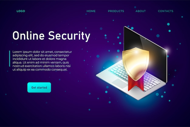 Online-sicherheits-web-banner-vorlage