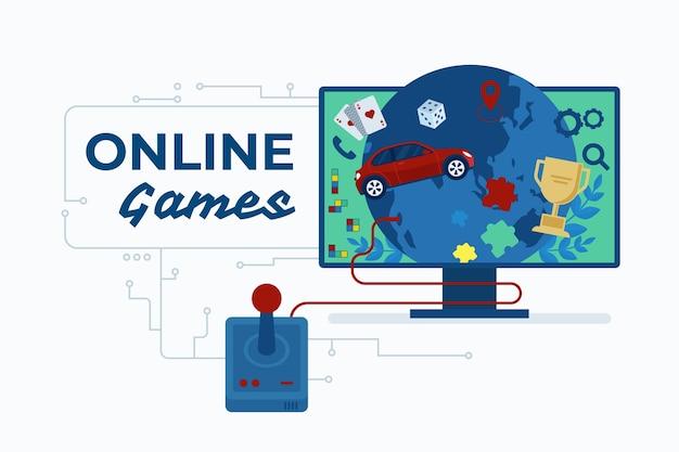 Online-spiele am computer