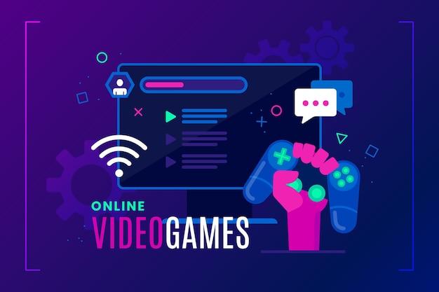 Online-spiele-konzept