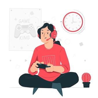Online-spiele sucht konzept illustration