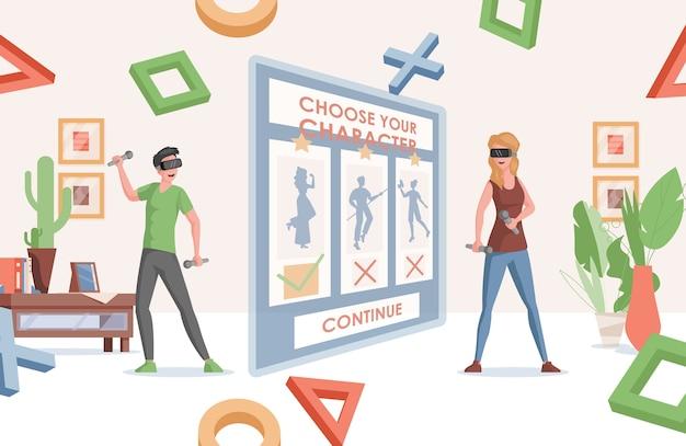 Online-spiele und virtuelle realität