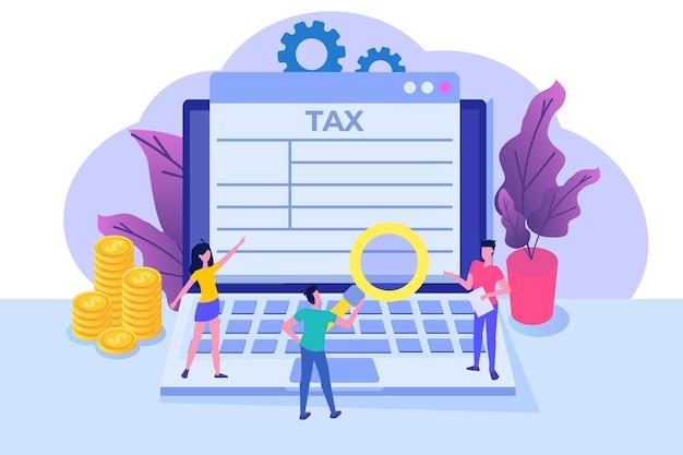 Online-steuerzahlungs-app-konzept